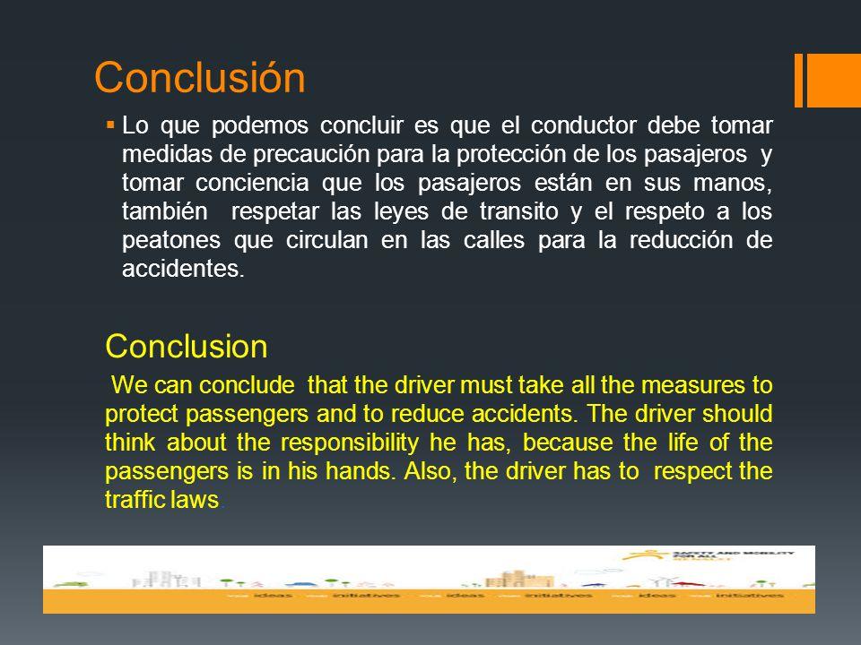 Conclusión Conclusion