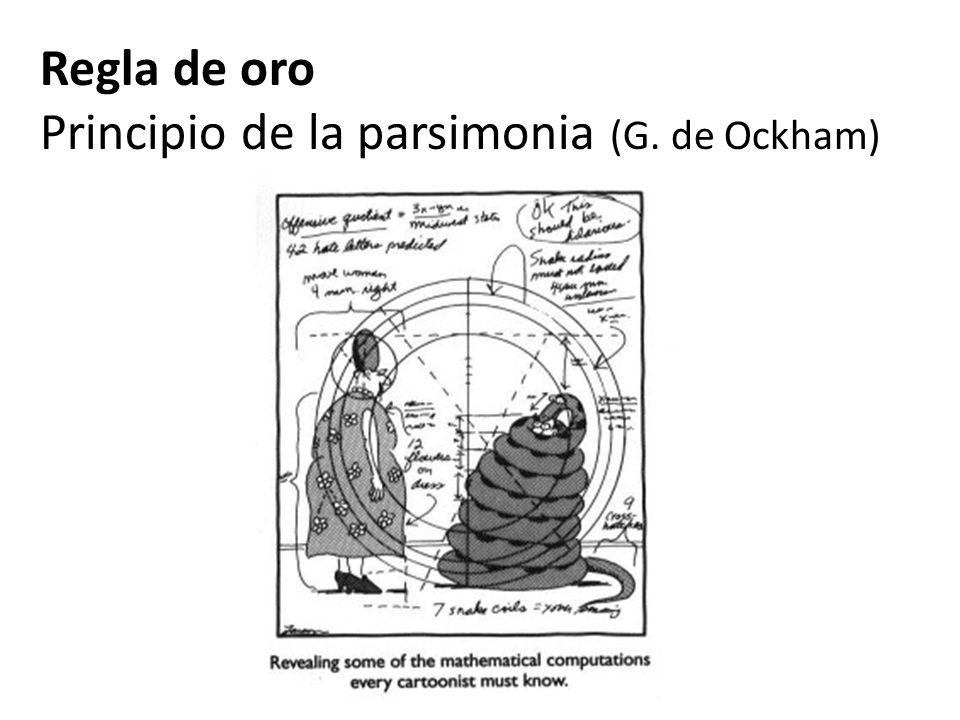 Regla de oro Principio de la parsimonia (G. de Ockham)