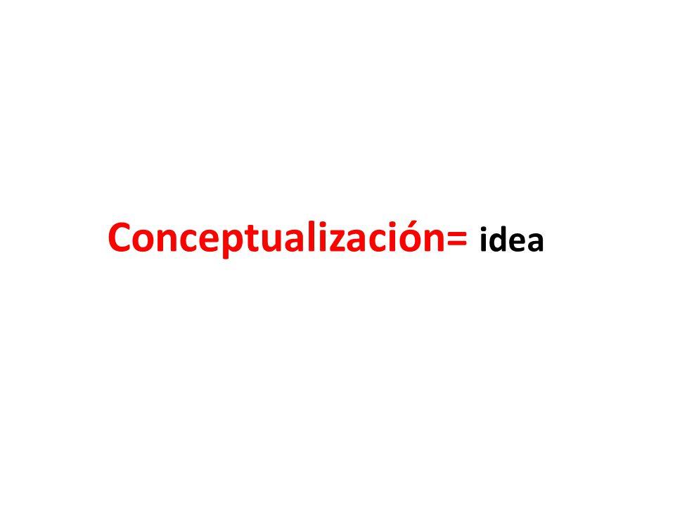 Conceptualización= idea
