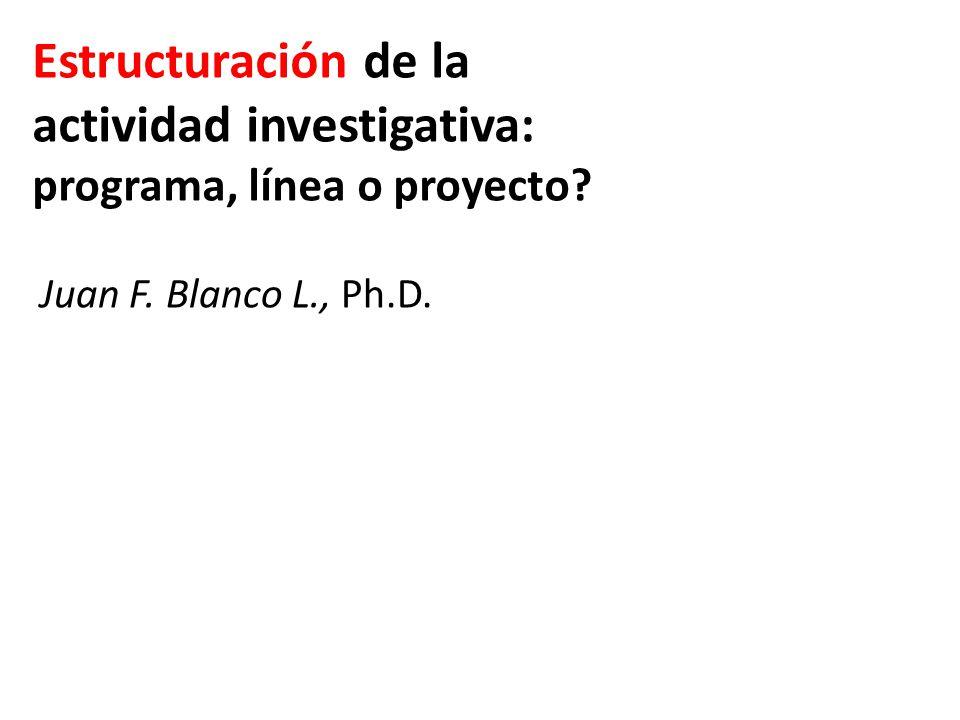 Estructuración de la actividad investigativa: