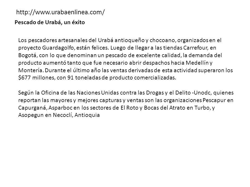 http://www.urabaenlinea.com/ Pescado de Urabá, un éxito
