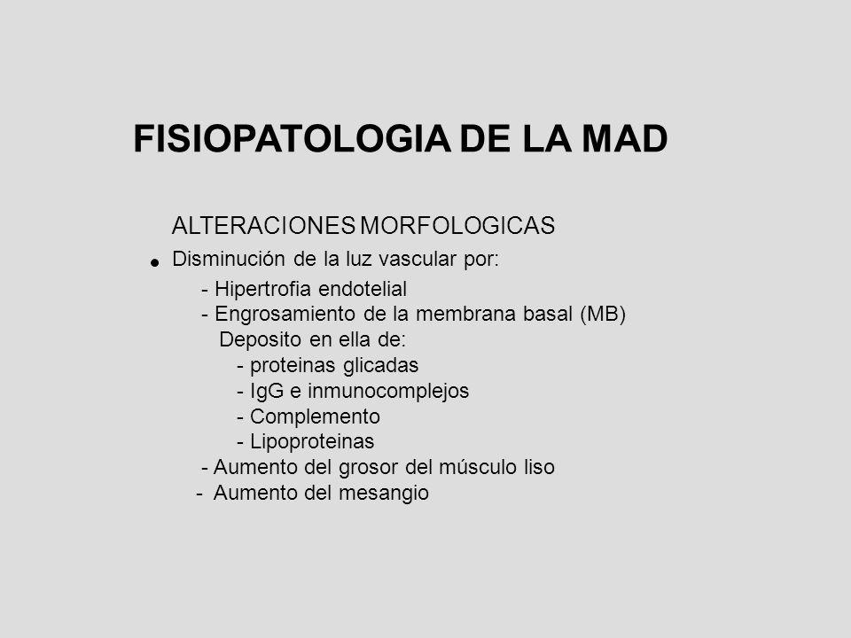 FISIOPATOLOGIA DE LA MAD