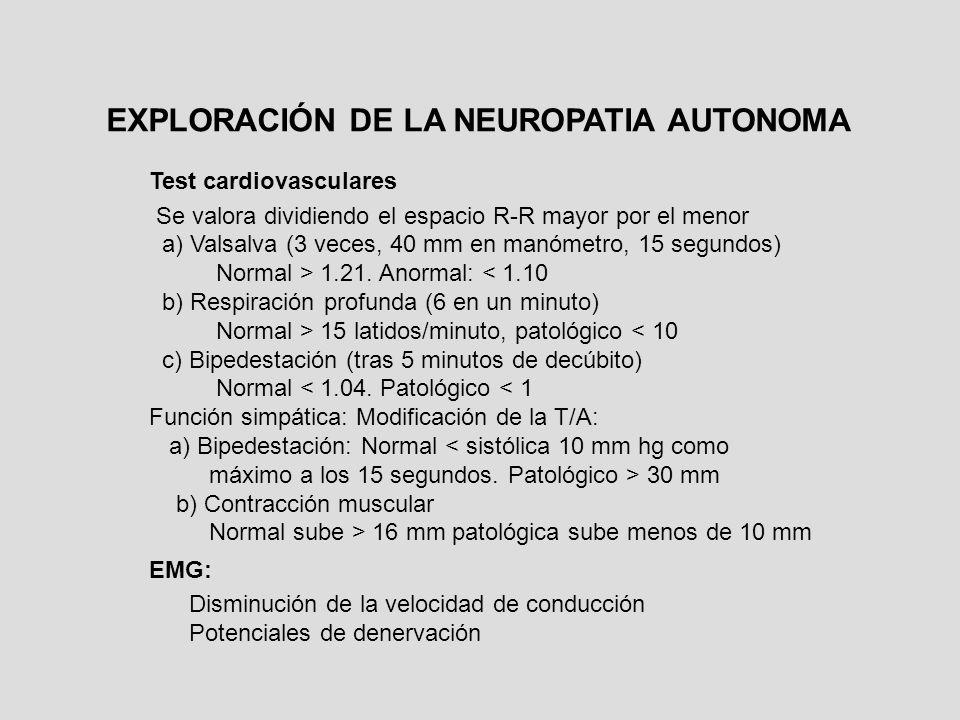 EXPLORACIÓN DE LA NEUROPATIA AUTONOMA
