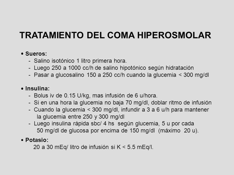 TRATAMIENTO DEL COMA HIPEROSMOLAR