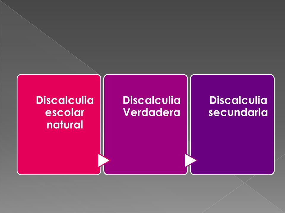 Discalculia escolar natural Discalculia Verdadera
