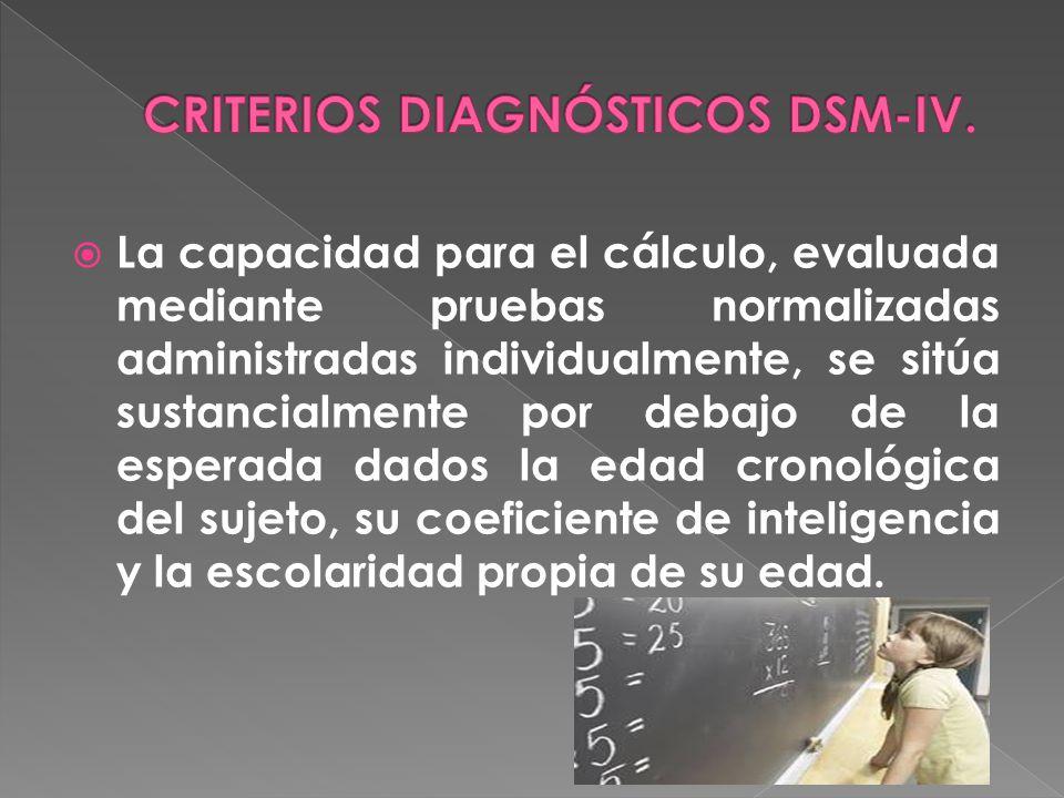 CRITERIOS DIAGNÓSTICOS DSM-IV.