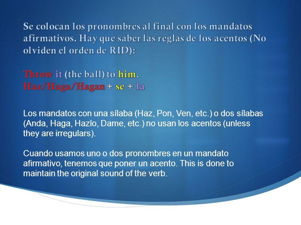 Throw it (the ball) to him. Haz/Haga/Hagan + se + la
