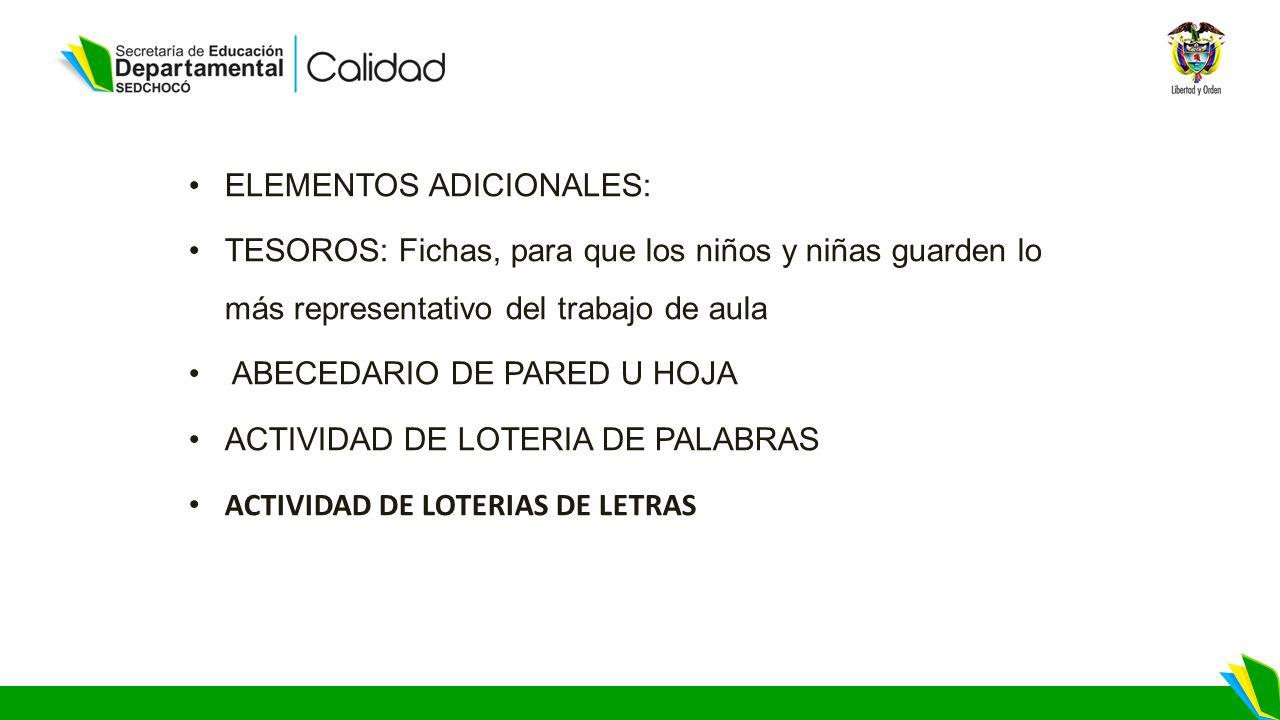 ELEMENTOS ADICIONALES: