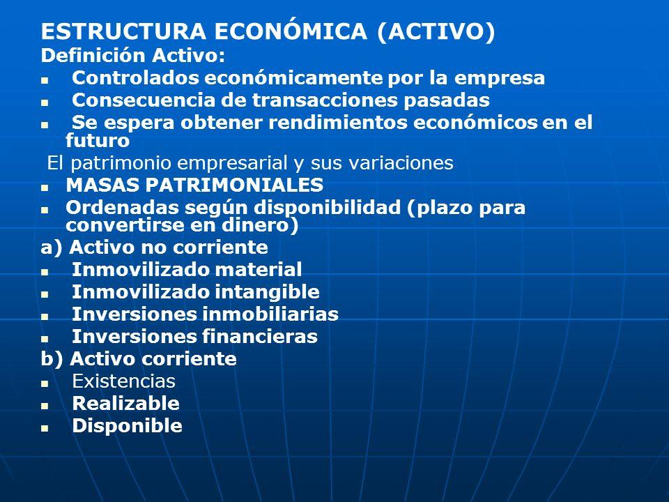 ESTRUCTURA ECONÓMICA (ACTIVO)