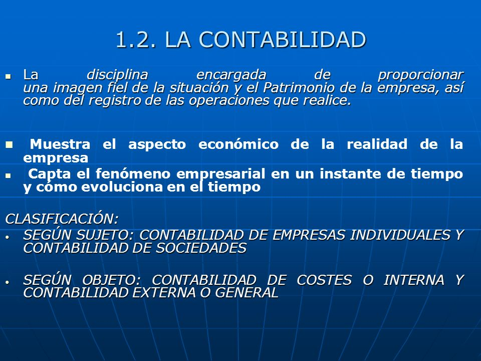 1.2. LA CONTABILIDAD