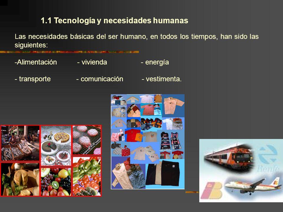 1.1 Tecnología y necesidades humanas