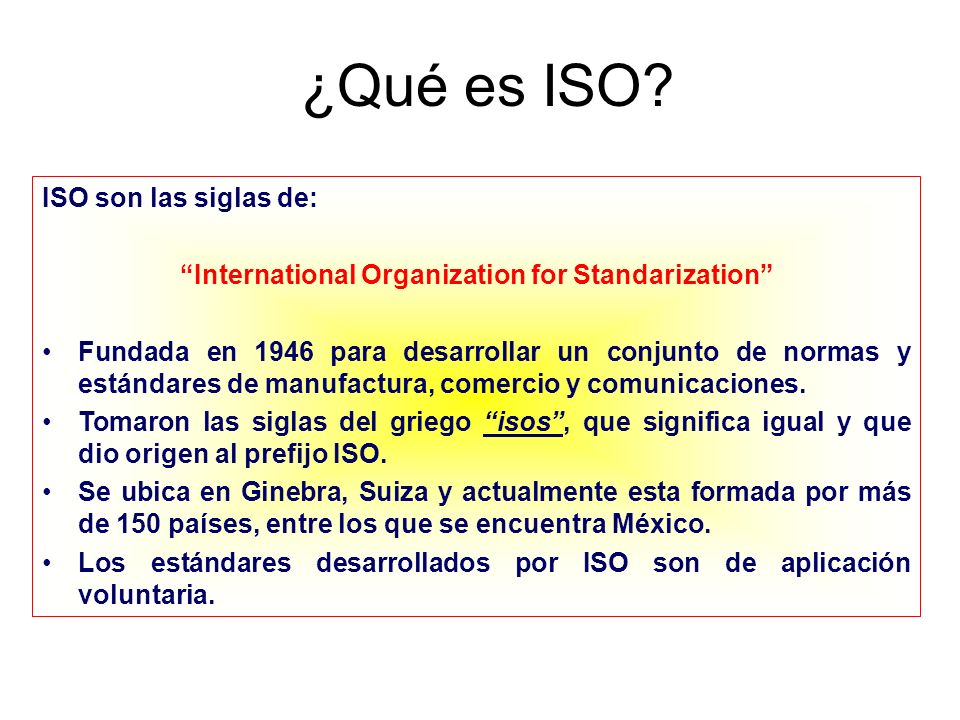 International Organization for Standarization