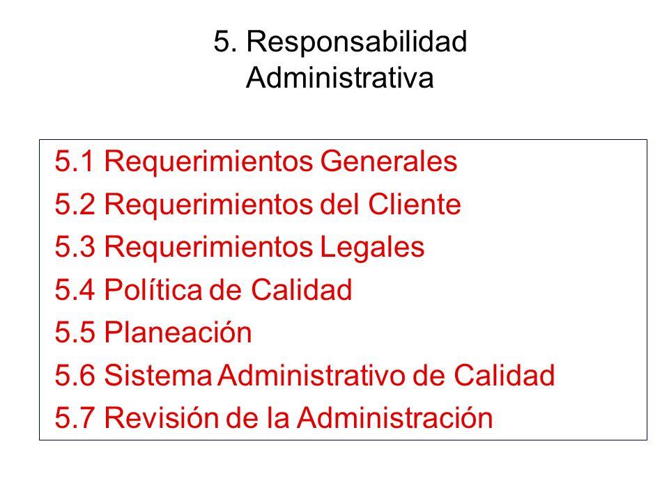 5. Responsabilidad Administrativa