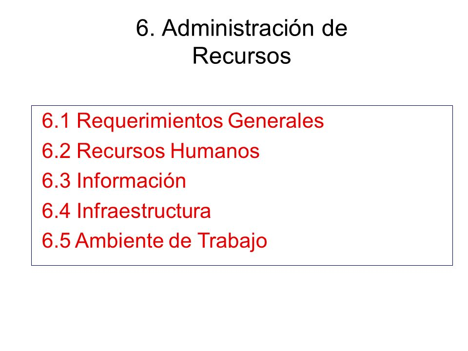 6. Administración de Recursos