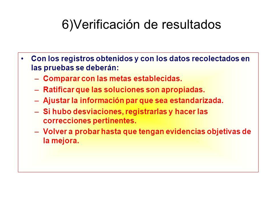 6)Verificación de resultados