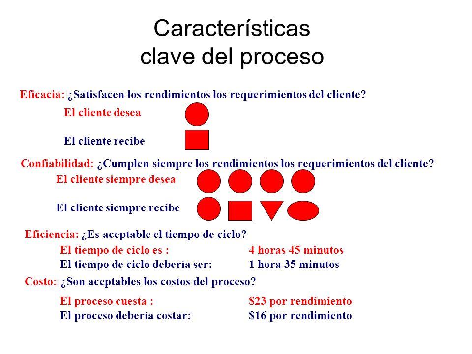 Características clave del proceso