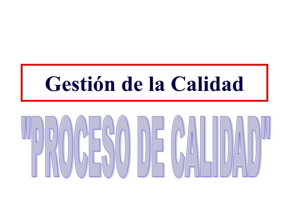 Gestión de la Calidad PROCESO DE CALIDAD