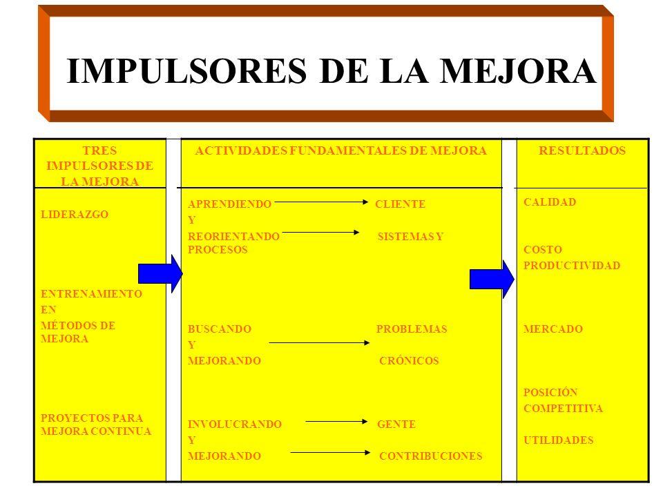 IMPULSORES DE LA MEJORA