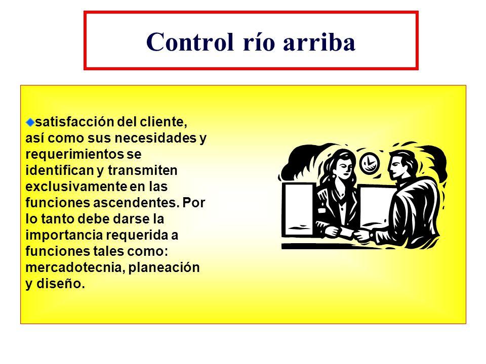 Control río arriba satisfacción del cliente,