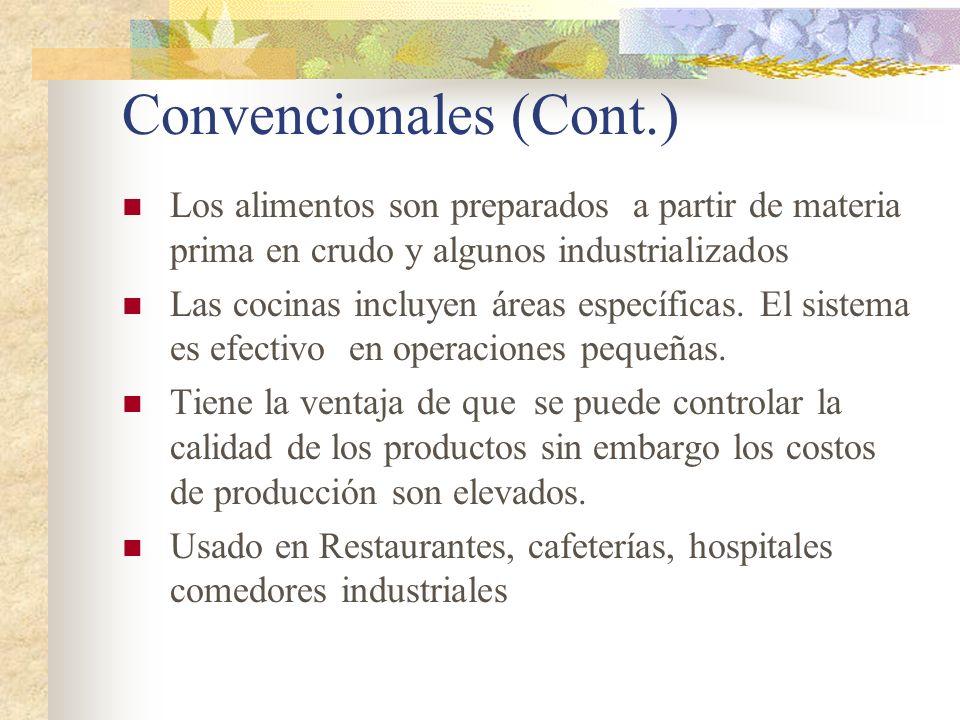 Convencionales (Cont.)