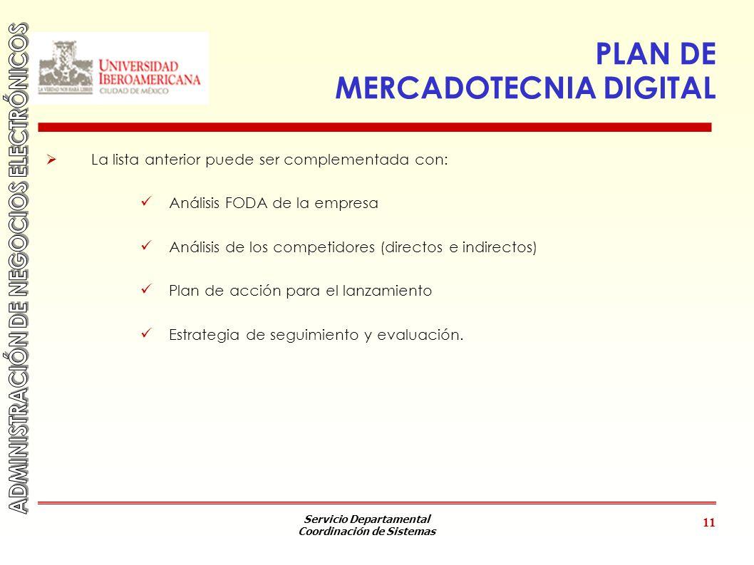 PLAN DE MERCADOTECNIA DIGITAL