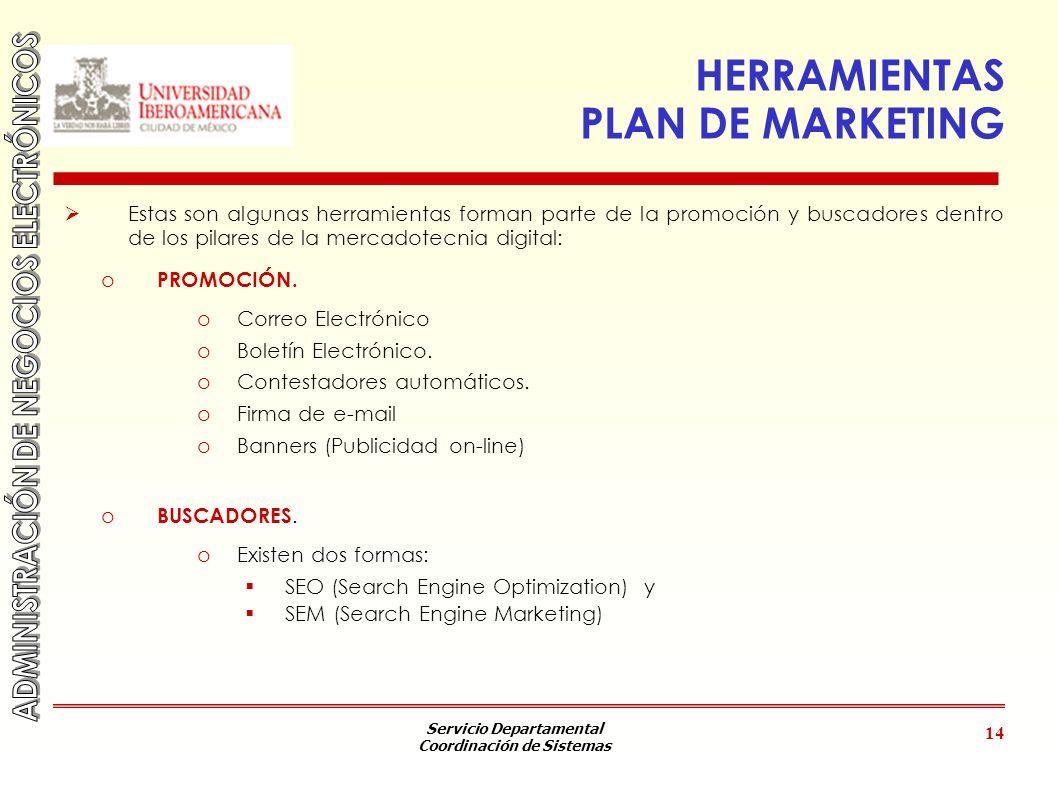 HERRAMIENTAS PLAN DE MARKETING