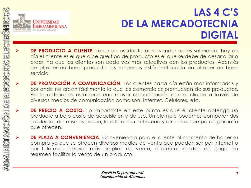 LAS 4 C'S DE LA MERCADOTECNIA DIGITAL