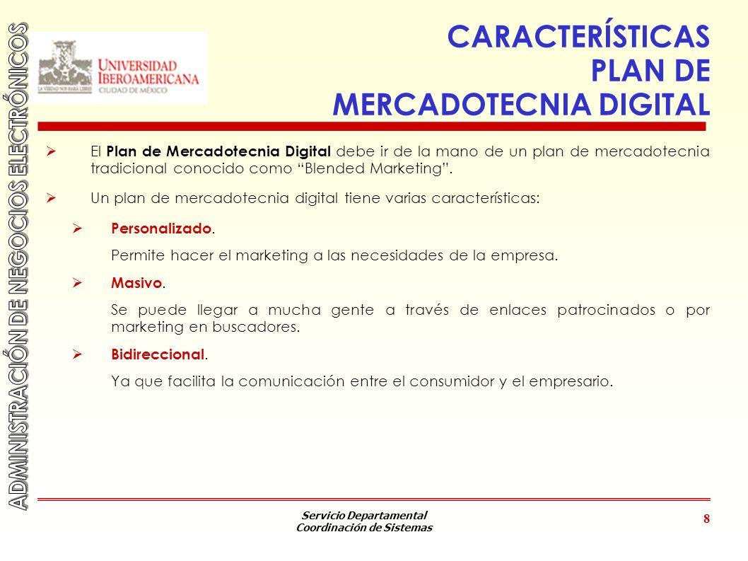 CARACTERÍSTICAS PLAN DE MERCADOTECNIA DIGITAL
