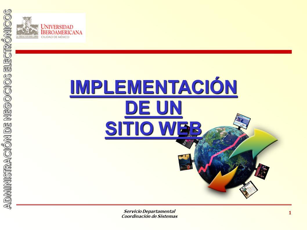 IMPLEMENTACIÓN DE UN SITIO WEB
