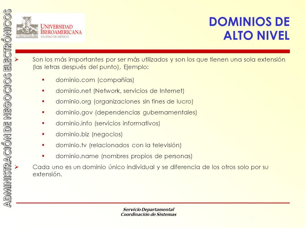 DOMINIOS DE ALTO NIVEL