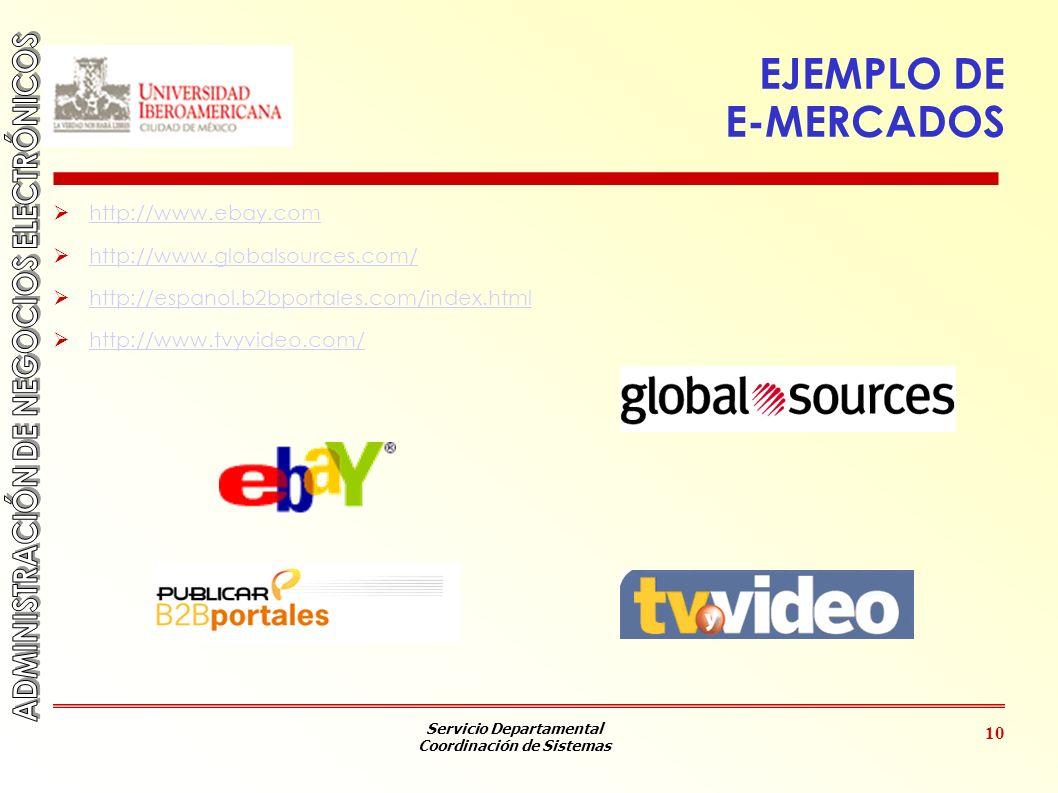 EJEMPLO DE E-MERCADOS http://www.ebay.com
