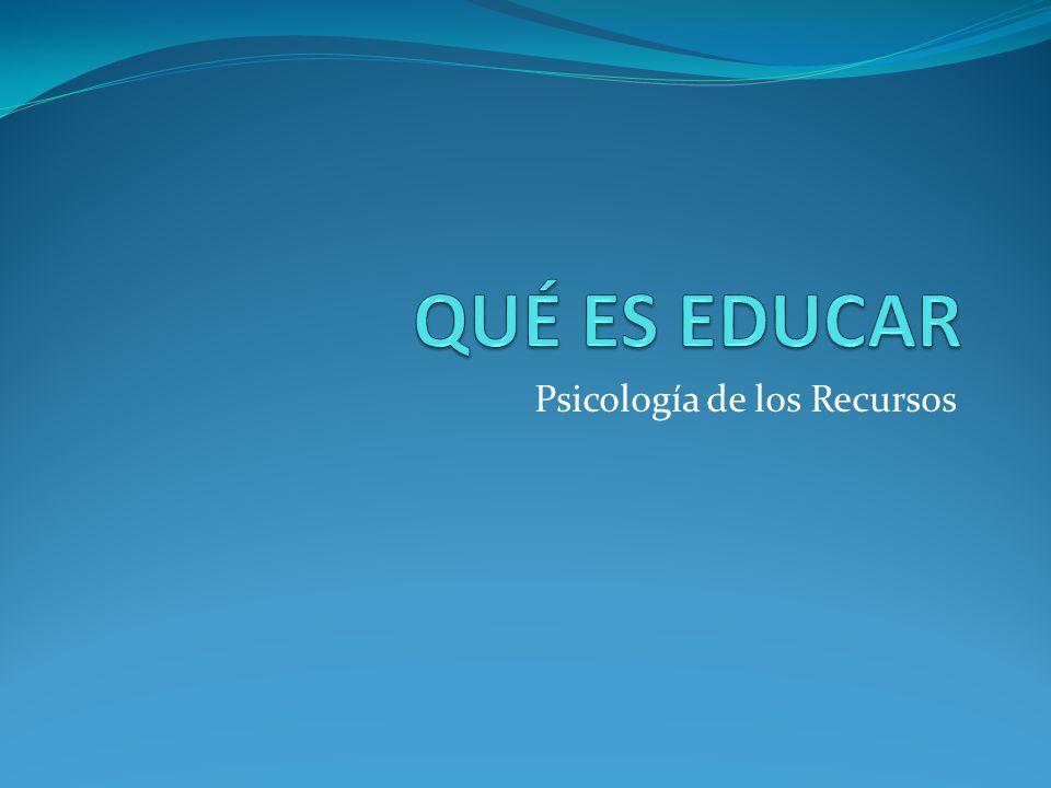 Psicología de los Recursos