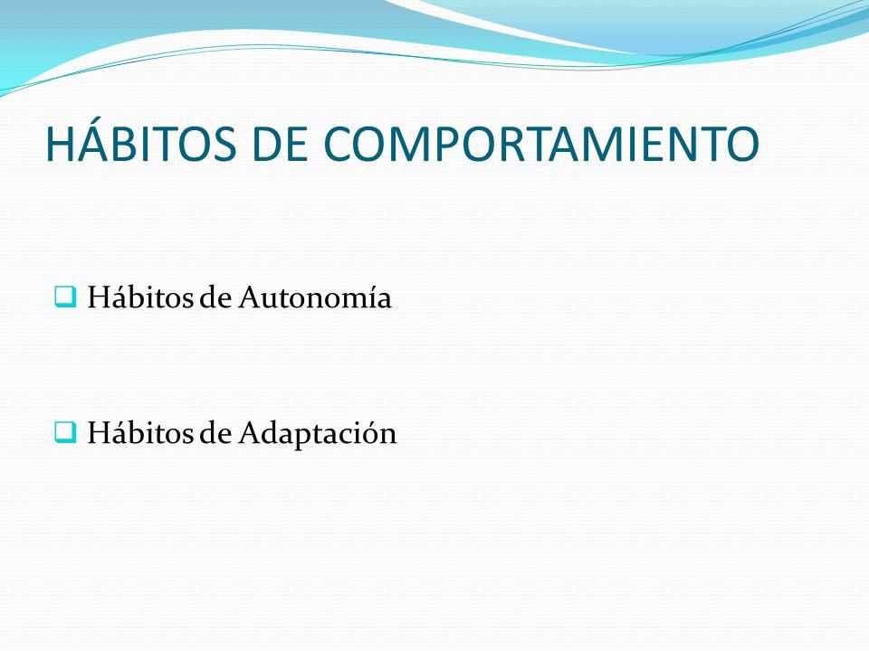 HÁBITOS DE COMPORTAMIENTO