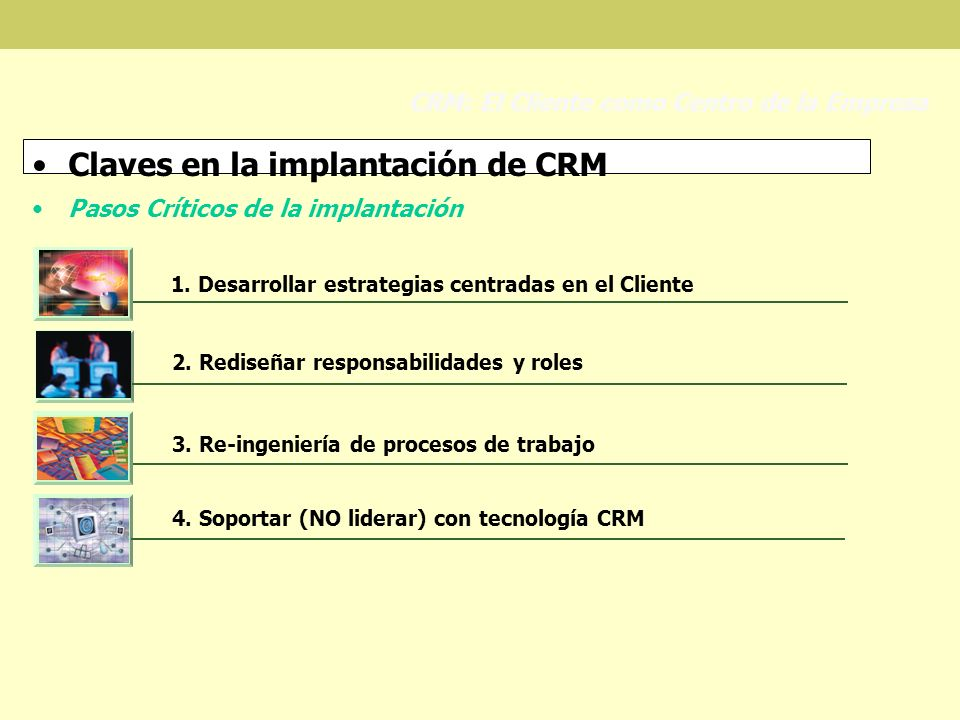 Claves en la implantación de CRM