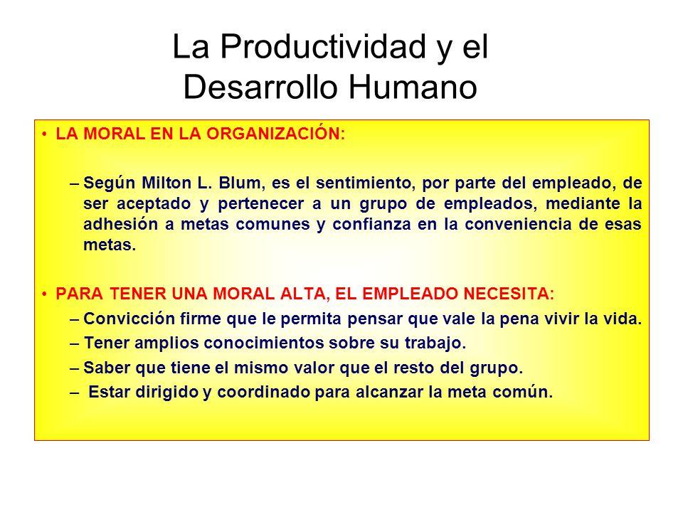 La Productividad y el Desarrollo Humano