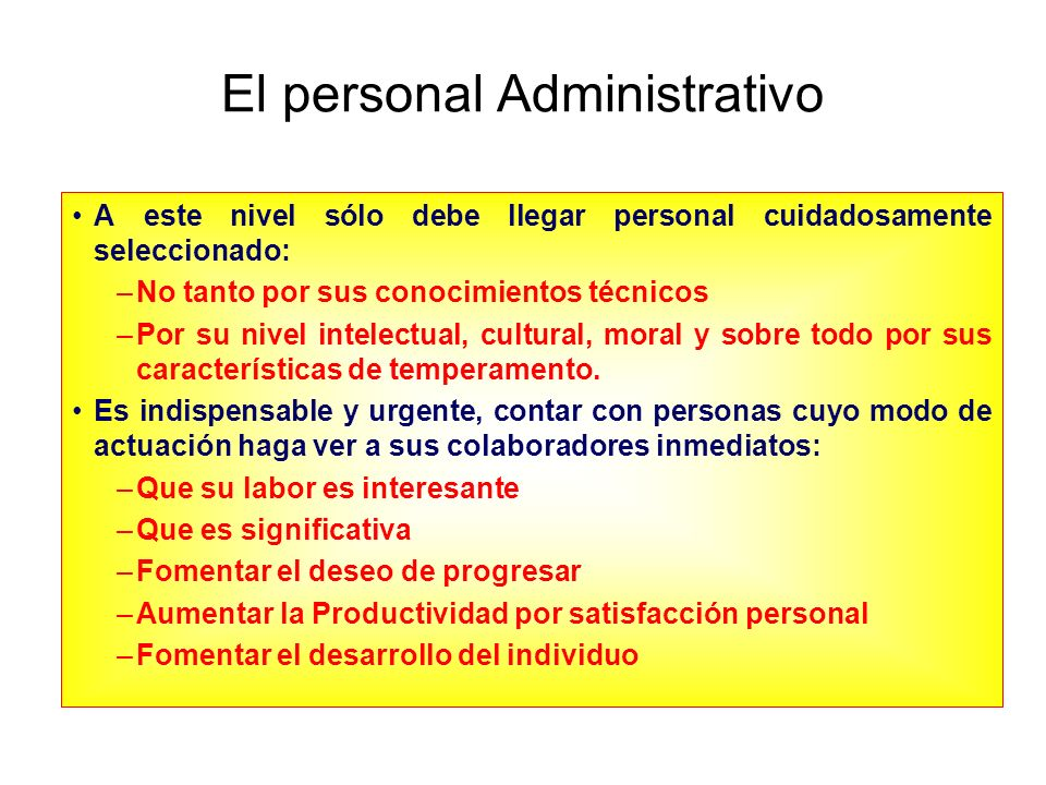 El personal Administrativo