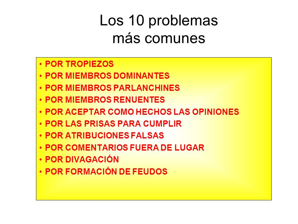 Los 10 problemas más comunes