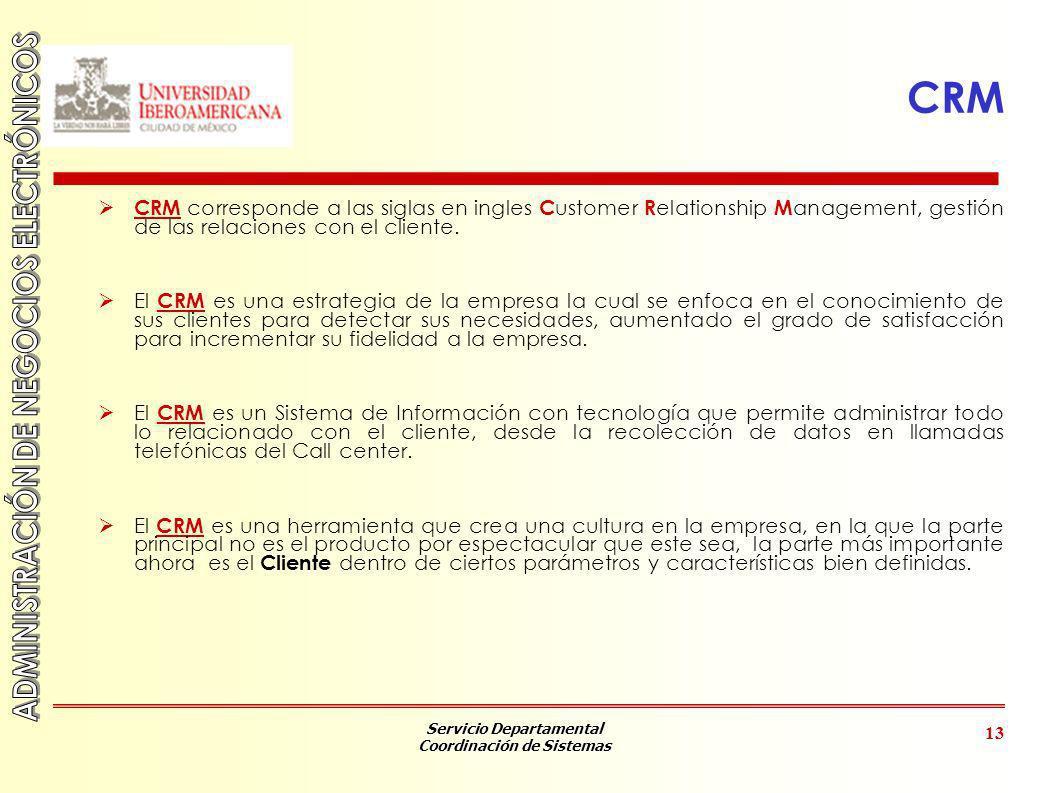 CRM CRM corresponde a las siglas en ingles Customer Relationship Management, gestión de las relaciones con el cliente.