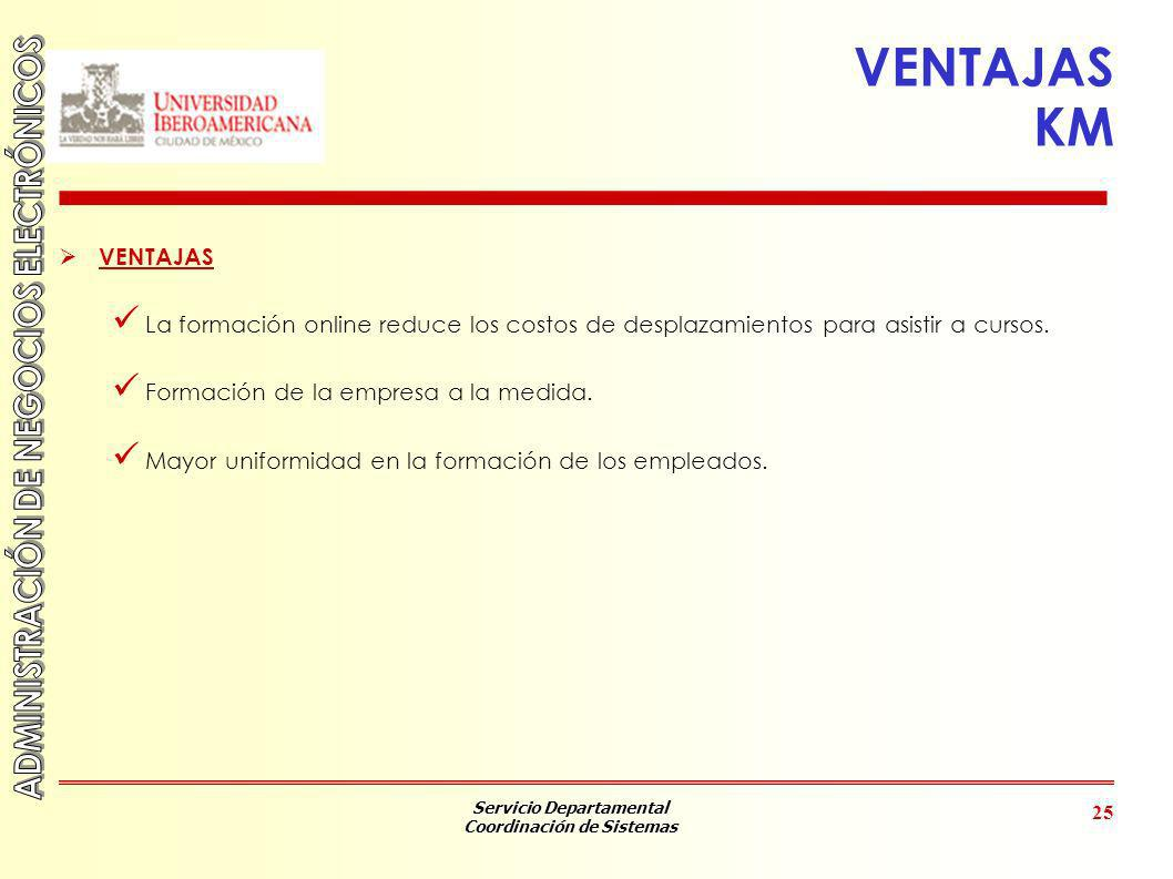 VENTAJAS KM VENTAJAS. La formación online reduce los costos de desplazamientos para asistir a cursos.