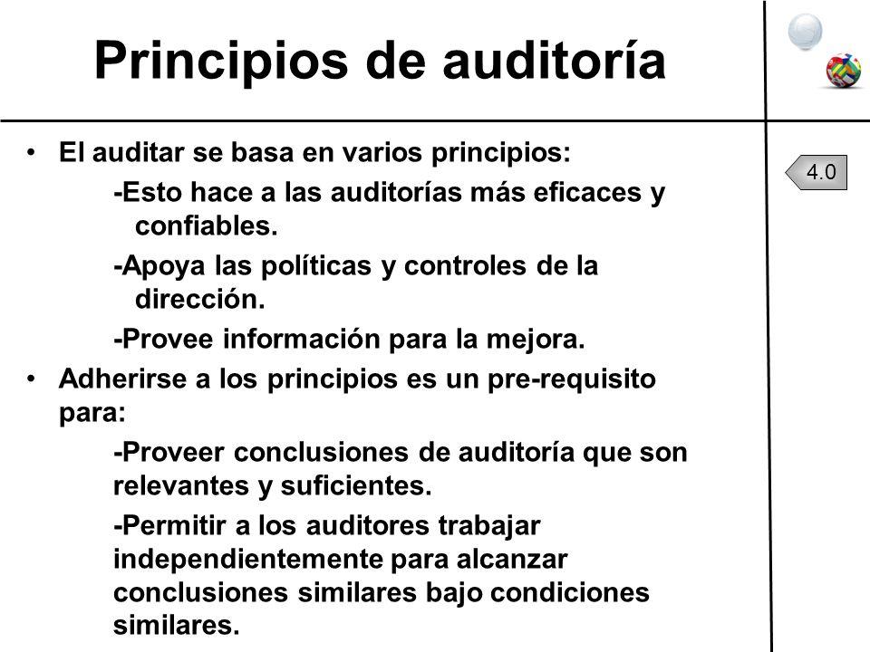 Principios de auditoría