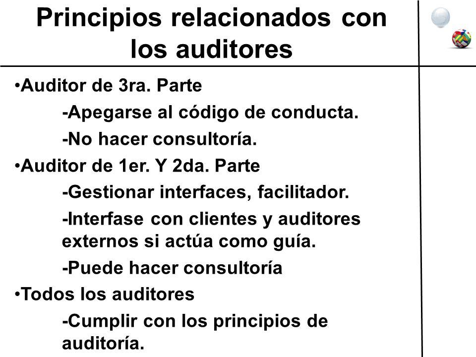 Principios relacionados con los auditores