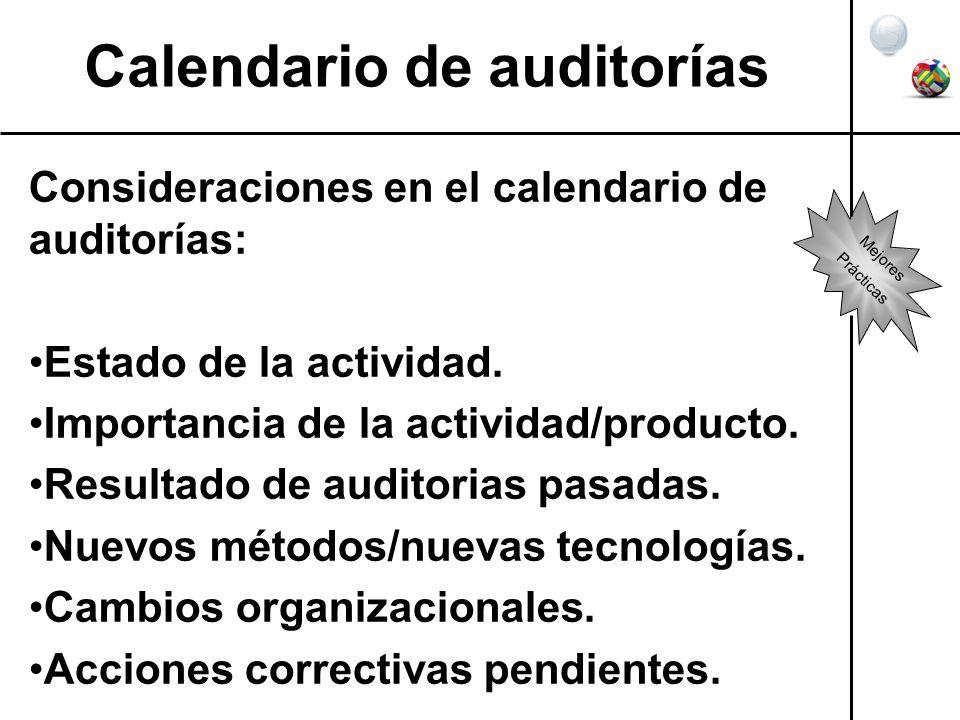 Calendario de auditorías