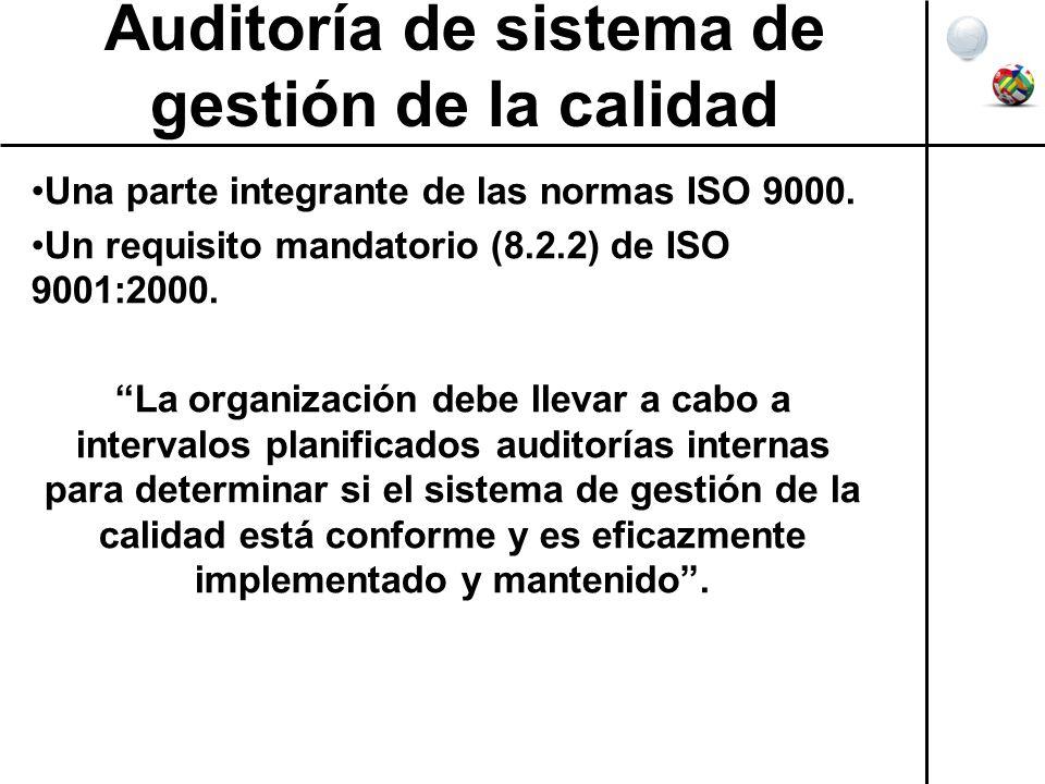 Auditoría de sistema de gestión de la calidad