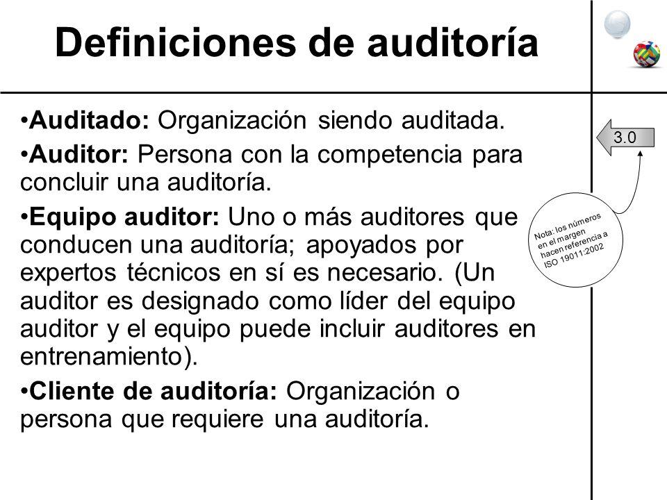 Definiciones de auditoría