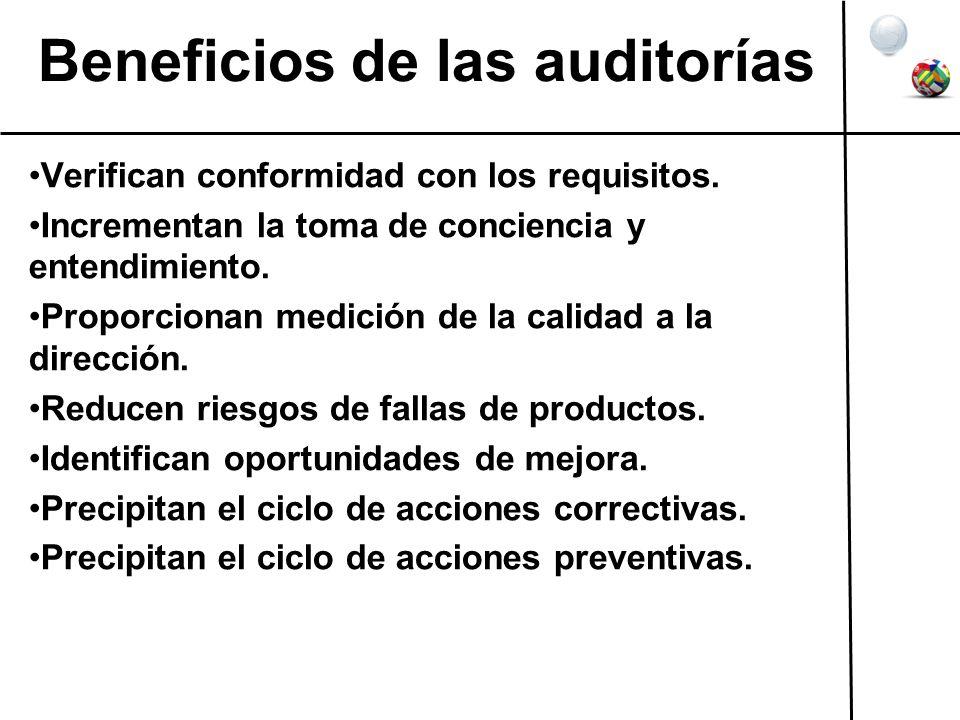 Beneficios de las auditorías