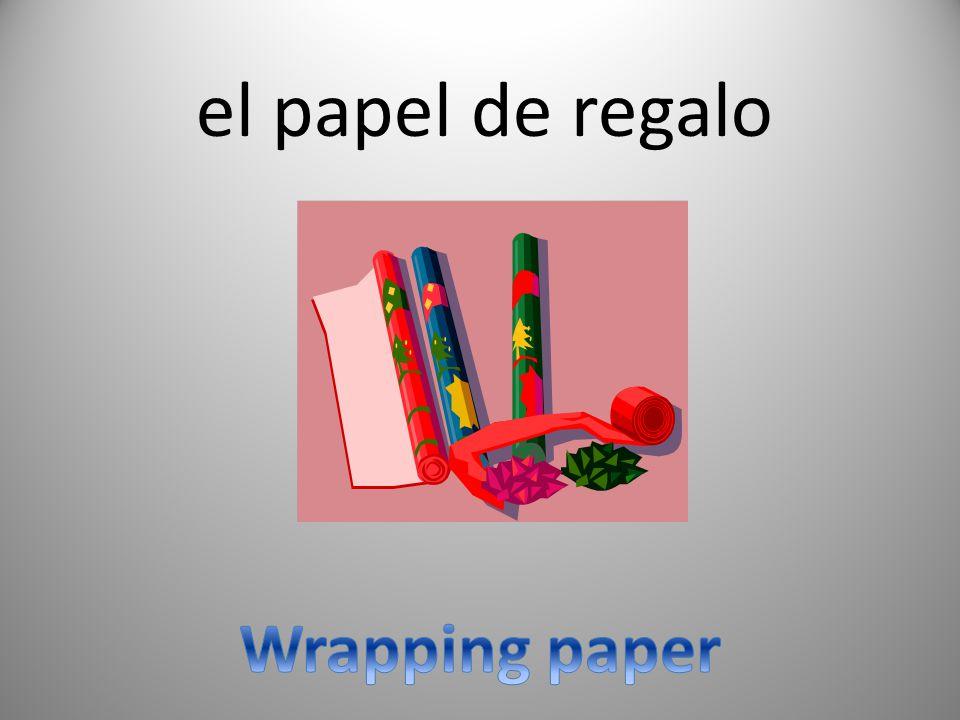 el papel de regalo Wrapping paper