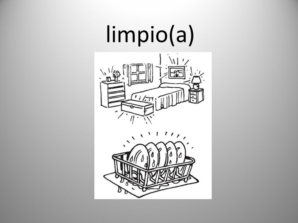 limpio(a)