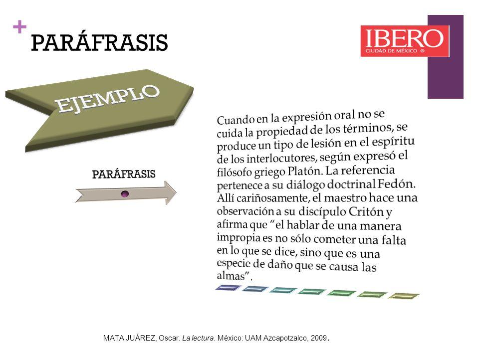 EJEMPLO PARÁFRASIS PARÁFRASIS
