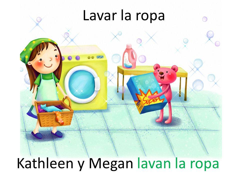 Lavar la ropa Kathleen y Megan lavan la ropa