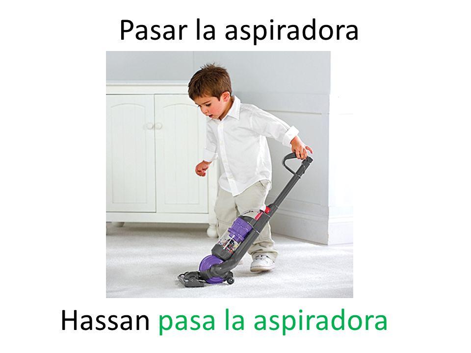 Pasar la aspiradora Hassan pasa la aspiradora